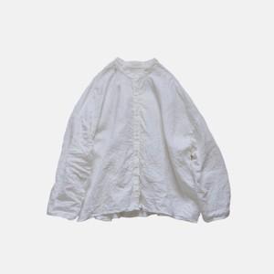 ベルギーリネンノーカラーシャツ