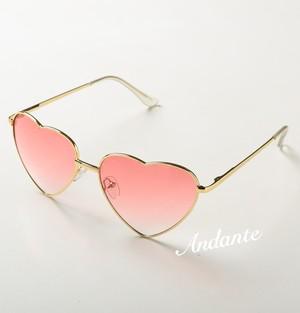 ハート♡型UVミラーサングラス【ピンク】 sht3