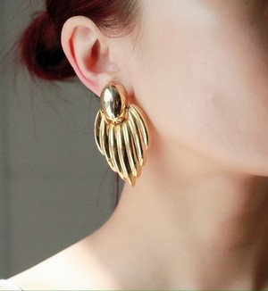 dead stock gold big earrings