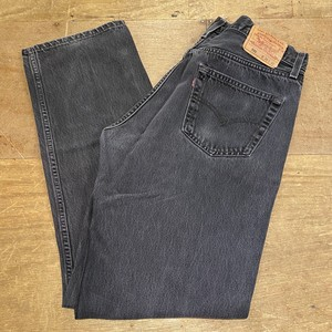 Levi's black denim made in usa 34インチ