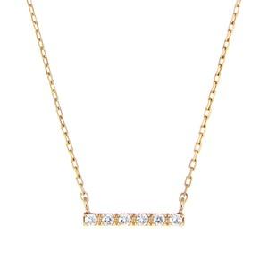K10YGダイヤモンドネックレス 020209002316