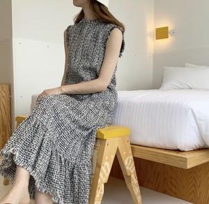 [即納]tweed dress