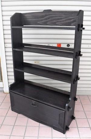木製のクサビ式本棚【扉付き】(0216103YC)