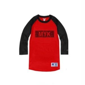 MYK box logo Champion raglan sleeves(red)