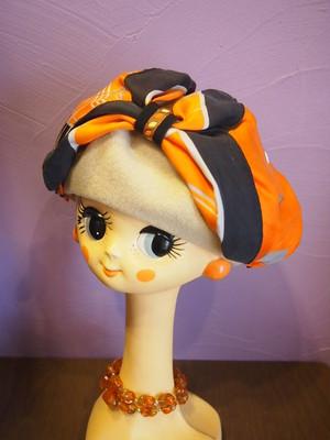 モアオリジナル スカーフリボンベレー帽