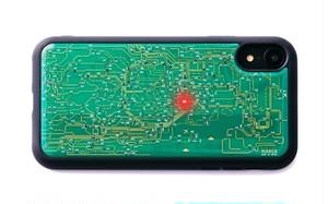 FLASH 東京回路線図 iPhone XRケース 緑【東京回路線図ピンズをプレゼント】