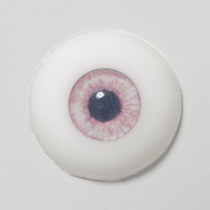 Silicone eye - 13mm Milky Antique Pink