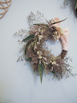 smoke tree wreath【S】pink
