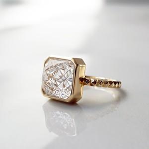 Quartz KIRIKO Ring  (Square10)