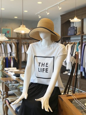 "MARGAUX/フレンチスリーブロゴTシャツ ""THE LIFE"""