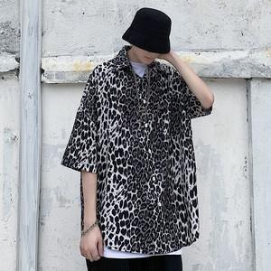 レオパードワンポケットシャツ BL6458