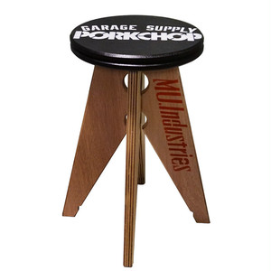 PORK STOOL Small / BLACK