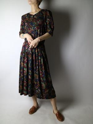 flower pattern dress【1144】