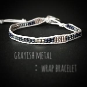 grayish metal:wrap bracelet