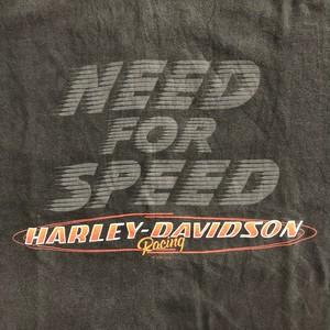 ハーレーダビッドソン Tシャツ 黒 ハーレーT 表記Lサイズ NEED FOR SPEED
