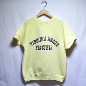 1960s Short Sleeve Sweat Shirt / S/S 染み込み プリント / 半袖 スウェット