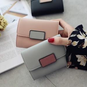 【小物】トレンド配色金属飾り財布バッグ