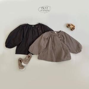 Ikii botann blouse ボリューム袖ブラウス 2色 韓国子供服 子供服 ロン T 子供服90 子供服100 (TA0014)
