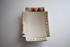 古川真紀子(撫菜花工藝)|幾何学模様角豆皿⑦