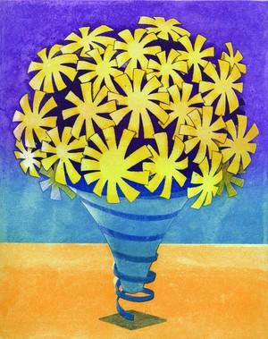 岡村 勇佑 版画作品「花の舟 - 植物1」