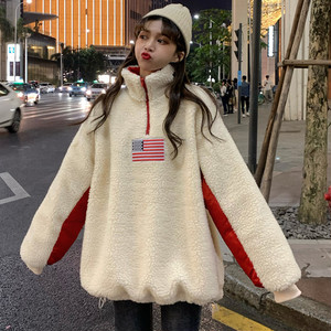 【トップス】原宿風 刺繍カジュアルスタンドネック人気パーカー24733900