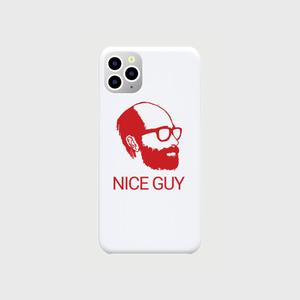 iPhone11ProMax用ケース「NICE GUY(白×赤)」