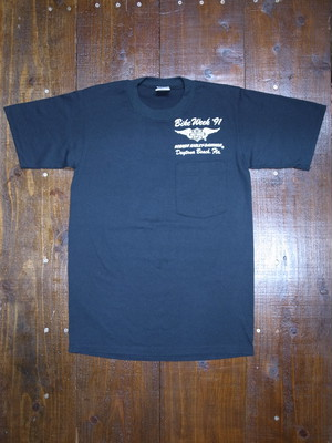 90's JERZEES Harley-Davidson 胸ポケ付き ROBISON T-Shirts(黒)DEAD STOCK ⑰
