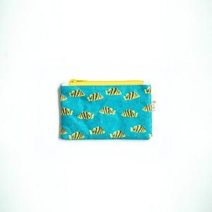 Ashi|亜紙 Flat Pouch S*Tiger Fish 紙ポーチ タイガーフィッシュ 動物柄 魚柄 ハンドメイド