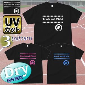 ドライTシャツ [Track & Field(走)ブラック] 吸汗速乾 UVカット レディース