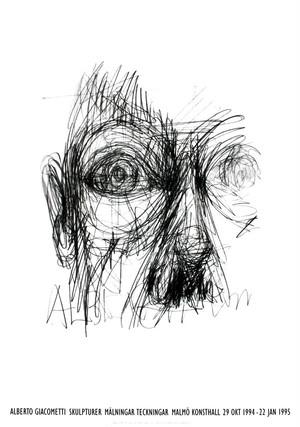 Alberto Giacometti / Malmo Konsthall Exhibition Poster 1994