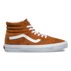 【Vans】スケートハイ PIG SUEDE SK8-HI REISSUE(LEATHER BROWN TRUE WHITE)