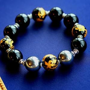 Amulet For You  四神獣金彫オニキス 黒水晶 テラヘルツ O様オーダーブレスレット
