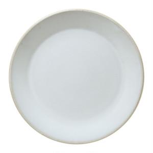益子焼 つかもと窯 伝統釉 フラット プレート 皿 L 糠白釉 TH-3