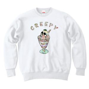[カジュアルスウェット] Creepy parfait / white