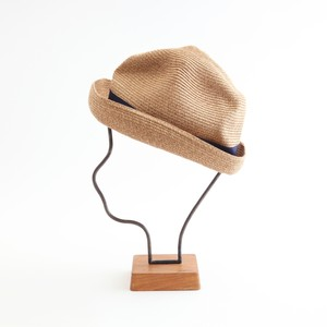mature ha./BOXED HAT 104 mixbrown×navy