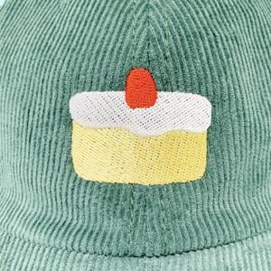 ケーキ刺繍コーデュロイキャップ(2color)