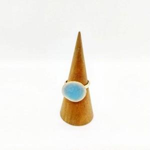 貫入青磁の陶器リング