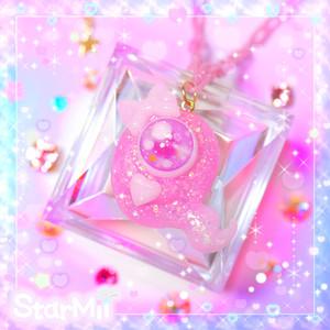 おばけちゃんのネックレス♪(ピンク)