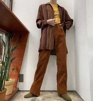 JONES NEW YORK stripe print silk shirt 【8】