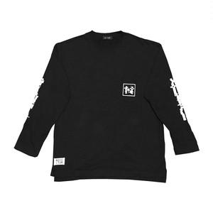 """""""NOI5E"""" ロングスリーブTシャツ(ブロックノイズ)(ブラック)"""