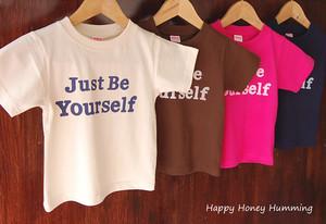 キッズTシャツ Just be yourself オリジナルtシャツ
