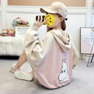 【トップス】ファッションルーズ原宿風カートゥーンフード付きパーカー