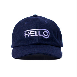 HELLO WOOL BB CAP #NAVY