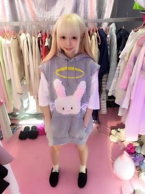 天使うさちゃんベストパーカー/JUNGLE BUS×魔法都市東京