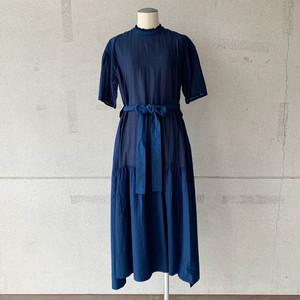 【COSMIC WONDER】Beautiful silk cotton neck lace dress/13CW17237-2