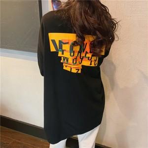 【トップス】韓国系半袖ラウンドネックプルオーバーTシャツ42893990