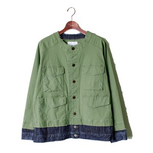 Layered Military Blouson -olive <LSD-AI3B3>