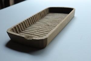 我谷盆(わがたぼん)へぎ板作品カトラリーサイズ約260×130×30