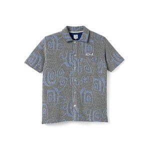 POLAR SKATE CO / PATTERNED SHIRT -BLACK-