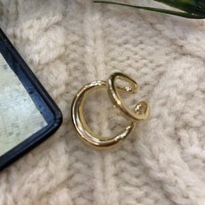 double hoop nuance ear cuff 【gold】ダブルライン 片耳 イヤカフ